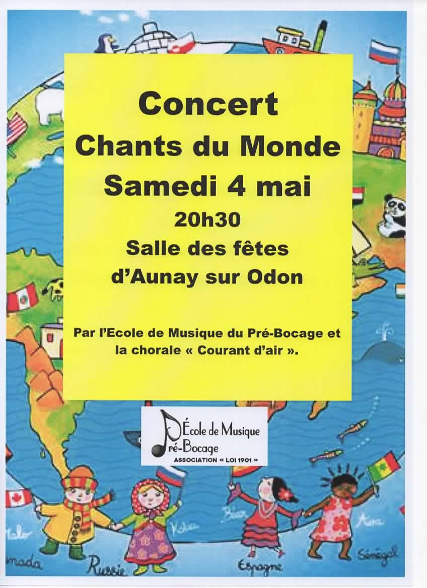 Affiche concert chants du monde