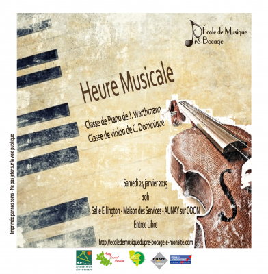 Heure musicale janvier